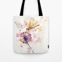 Dragonfly & Dandelion Dance Tote Bag