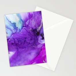 Love Alcohol Ink Painting Stationery Cards