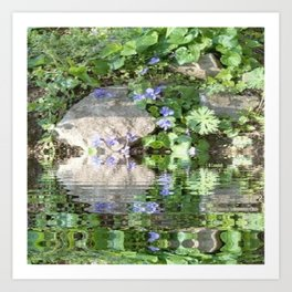 Green Reflected Art Print