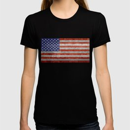 Flag of the United States of America in Retro Grunge T-shirt