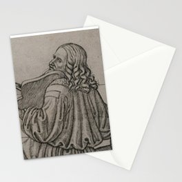 Da Vinci playing the Violin Stationery Cards