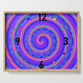 Clockwise crazy clock Serving Tray