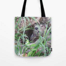 Sheltering In #nature #groundhog  Tote Bag