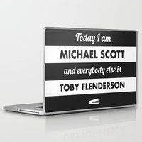 michael scott Laptop & iPad Skins featuring Today I am Michael Scott by The LOL Shop
