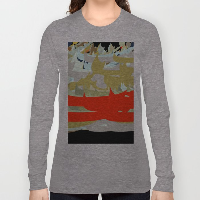 Contemporary Persian Calligraphy Long Sleeve T-shirt