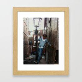 lamp post Framed Art Print