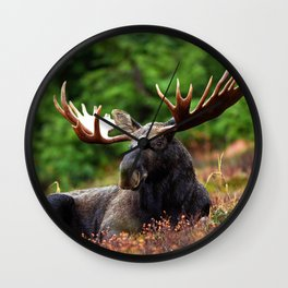 Relax Moose Wall Clock