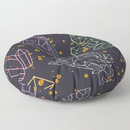 crystals and gemstones Floor Pillow