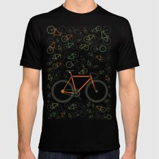 Fixed gear bikes Mens Fitted Tee Black LARGE