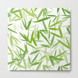 Bamboo Leaves Metal Print
