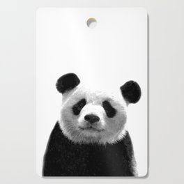 Black and white panda portrait Cutting Board
