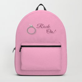 Rock On! Engagement Announcement Backpack