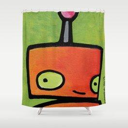 Robot - Sweet Shy Glances Shower Curtain