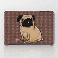 pug iPad Cases featuring Pug by Sandra Rivas