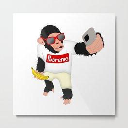 Monkey Selfie Metal Print