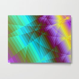Color Fractions Metal Print