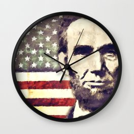 Patriot President Abraham Lincoln Wall Clock