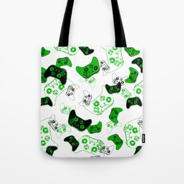 Video Game White and Green Tote Bag