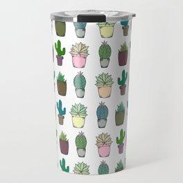 Succulent Pattern Travel Mug