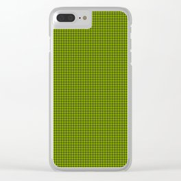 Slime Green and Black Hell Hounds Tooth Check Clear iPhone Case