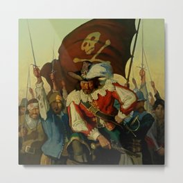 """Stand and Deliver"" Pirate Art by NC Wyeth Metal Print"