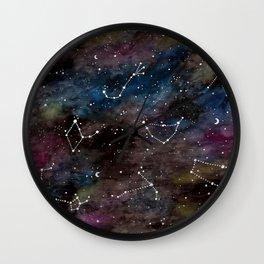 Zodiac Constellations Wall Clock