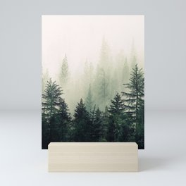Foggy Pine Trees Mini Art Print