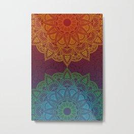 Mandala - twins Metal Print