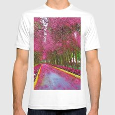 CHERRY BLOSSOMS SPRING MEDIUM Mens Fitted Tee White