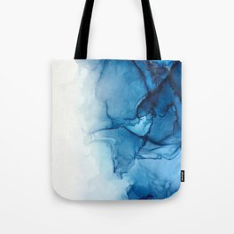 Blue Tides - Alcohol Ink Painting Tote Bag