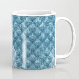 Quilted Ocean Blue Velvety Pattern Coffee Mug