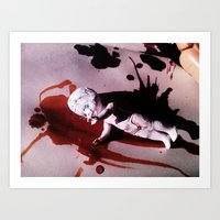 blood Art Prints featuring Blood by Lil Ashton