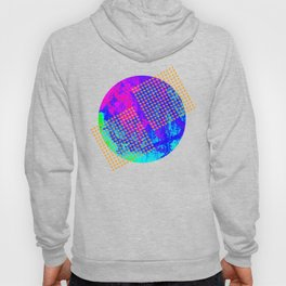 Polka dots on vibrant abstract background Hoody