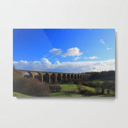 Cefn Railway Viaduct North Wales Metal Print