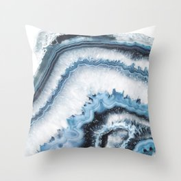 Cold Shadows Agate Throw Pillow