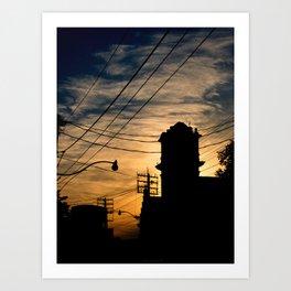 Firehall Sunset Art Print