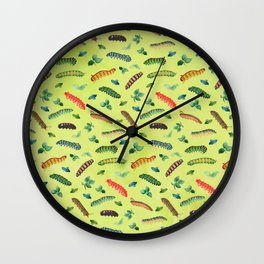 Being weird is a natural side effect of being awesome caterpillar illustration Wall Clock