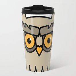 Owl in a Circle Travel Mug