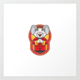 Gong Xi Fa Cai Mouse Greeting Art Print