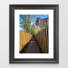 walk this way Framed Art Print