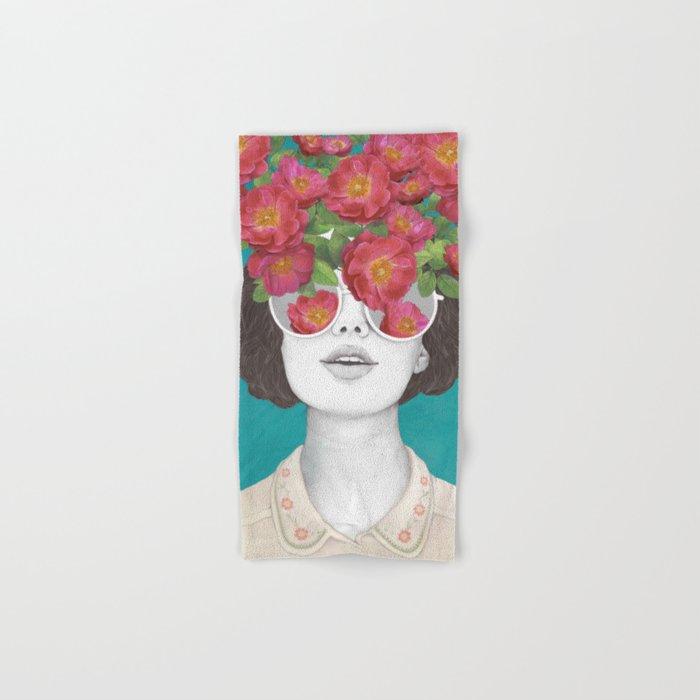 The optimist // rose tinted glasses Hand & Bath Towel