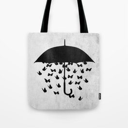 uncertainty (black and white) Tote Bag