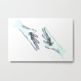 she would touch you with her absent hands Metal Print