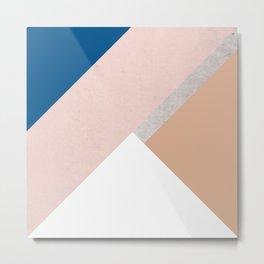 Winter Geometry Metal Print