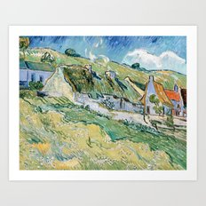Thatched Cottages and Houses by Vincent van Gogh Art Print