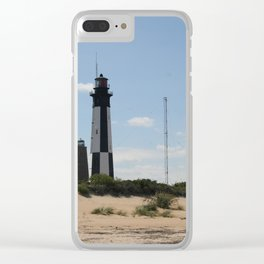 Short And Tall Cape Henry Lights Clear iPhone Case