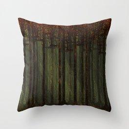 Autumn Forest - Pixel Art Throw Pillow