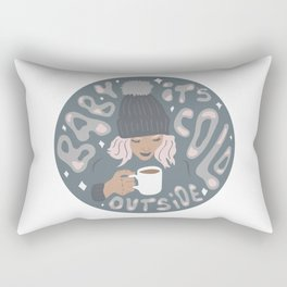 It's Cold Outside Rectangular Pillow