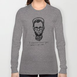 American Hipstory: Abe Lincoln Long Sleeve T-shirt