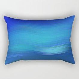 """Blue abstract design """"Lines"""" Rectangular Pillow"""